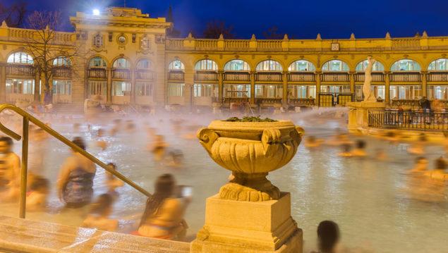 Foto aus dem Gellert-Bad in Budapest