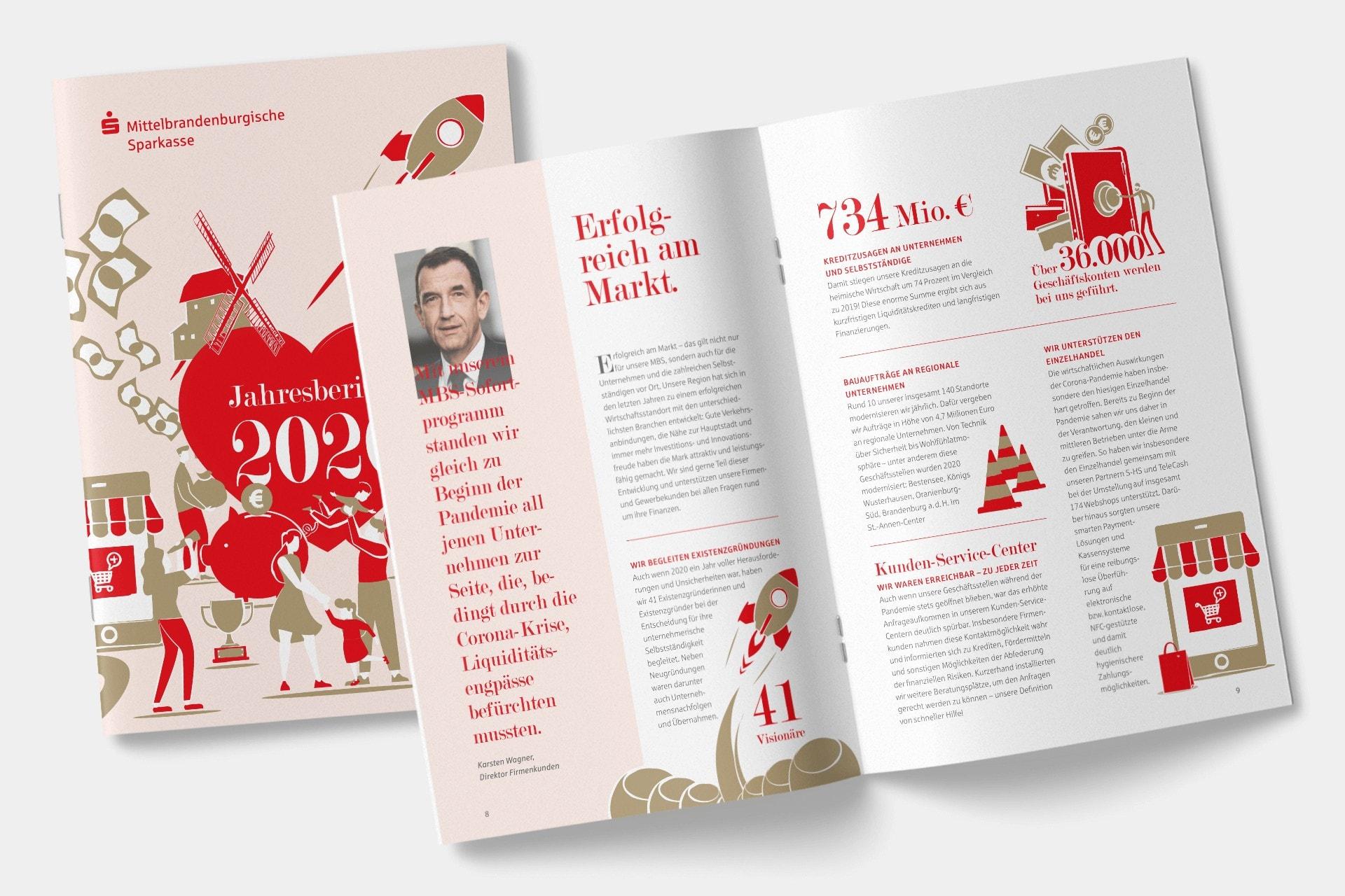 Ansicht des Jahresberichts 2020 der Mittelbrandenburgischen Sparkasse